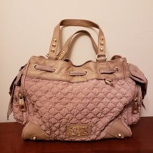 Juicy couture beige tan quilted bag